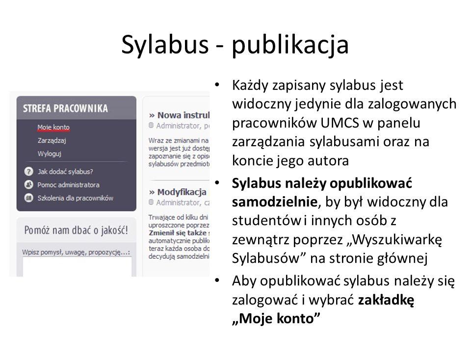Sylabus - publikacja