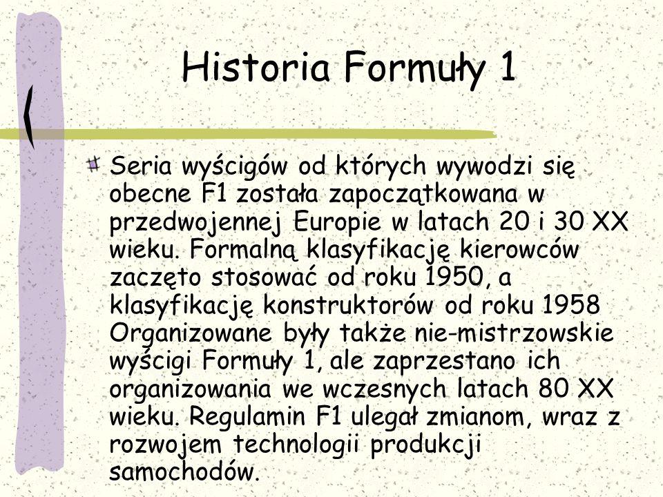 Historia Formuły 1
