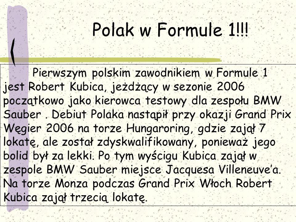 Polak w Formule 1!!!
