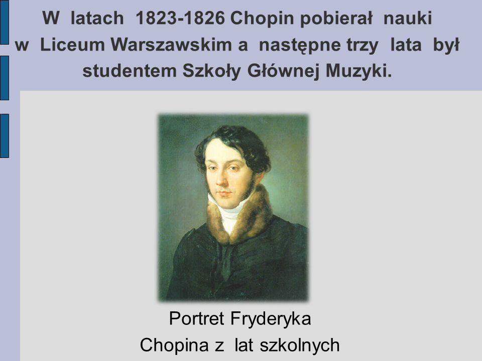 Portret Fryderyka Chopina z lat szkolnych