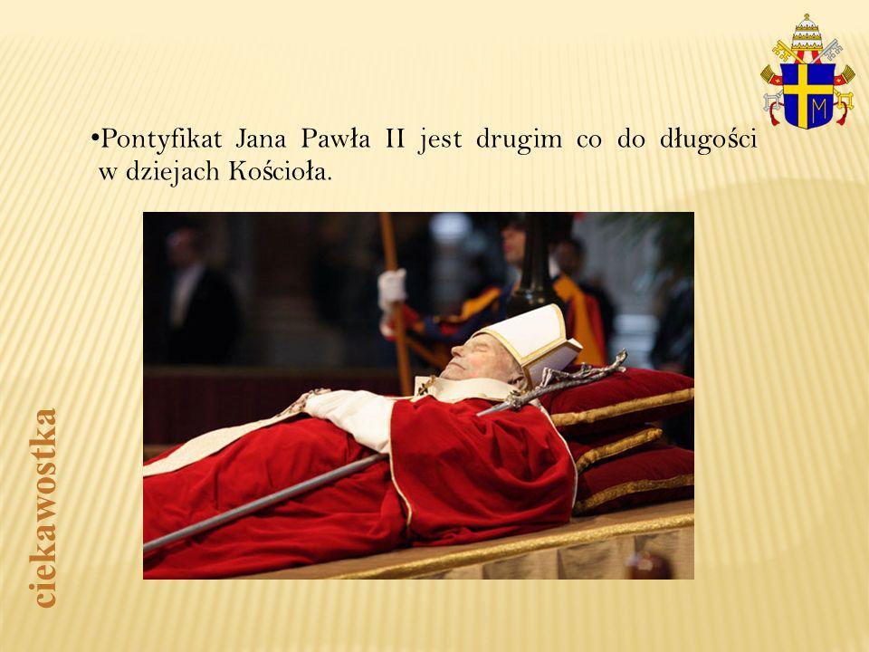 Pontyfikat Jana Pawła II jest drugim co do długości w dziejach Kościoła.
