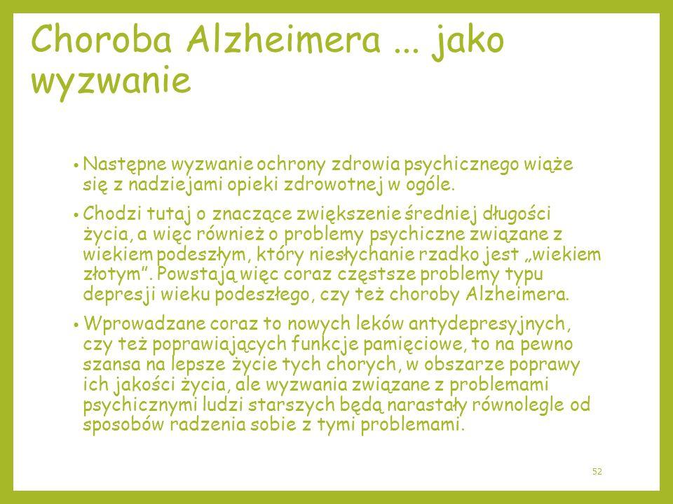 Choroba Alzheimera ... jako wyzwanie