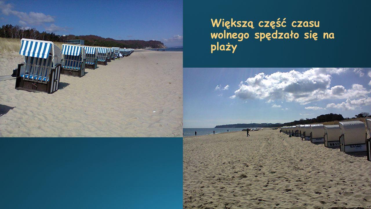 Większą część czasu wolnego spędzało się na plaży