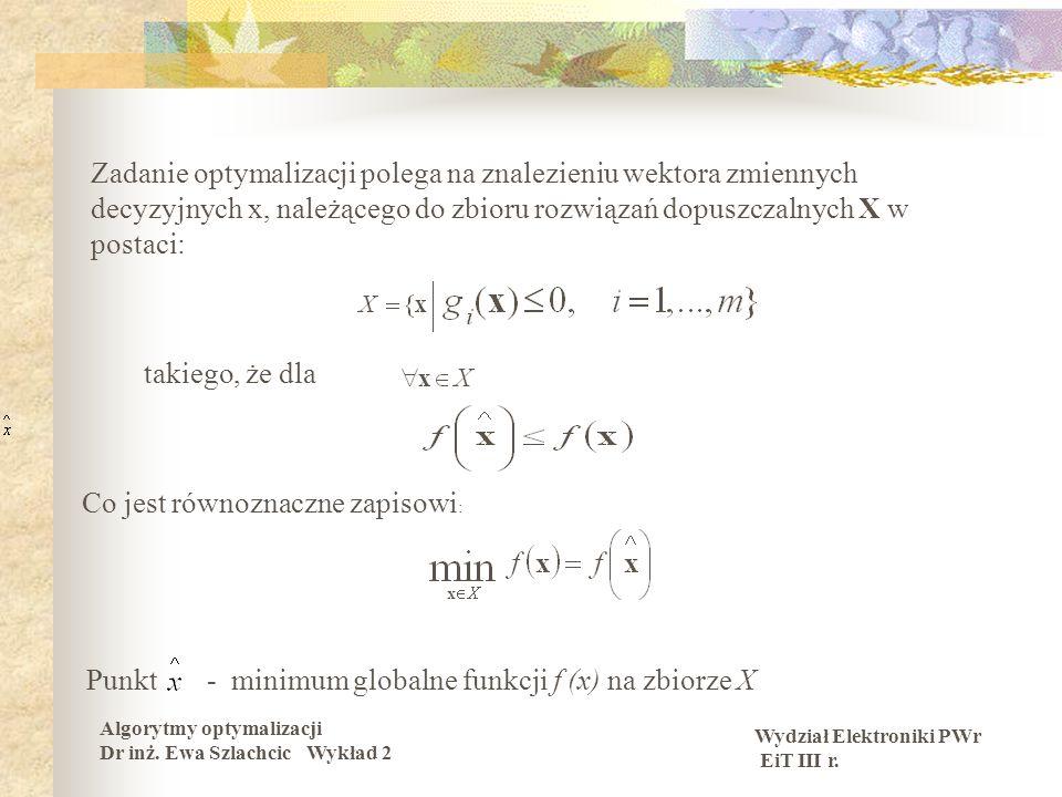 Metody numeryczne i optymalizacja