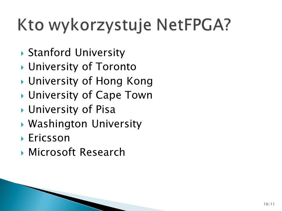 Kto wykorzystuje NetFPGA