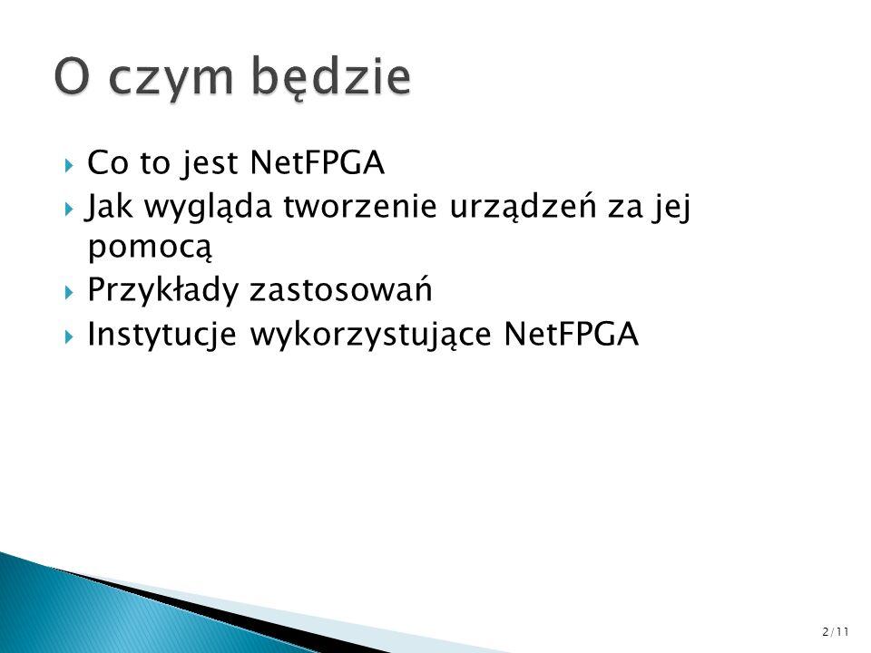O czym będzie Co to jest NetFPGA