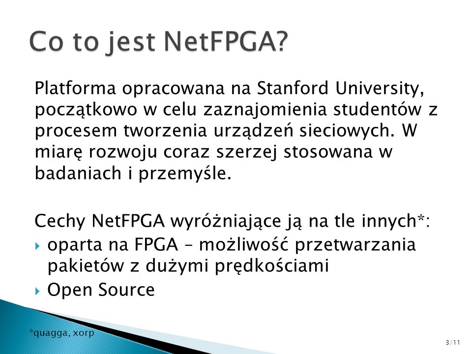 Co to jest NetFPGA