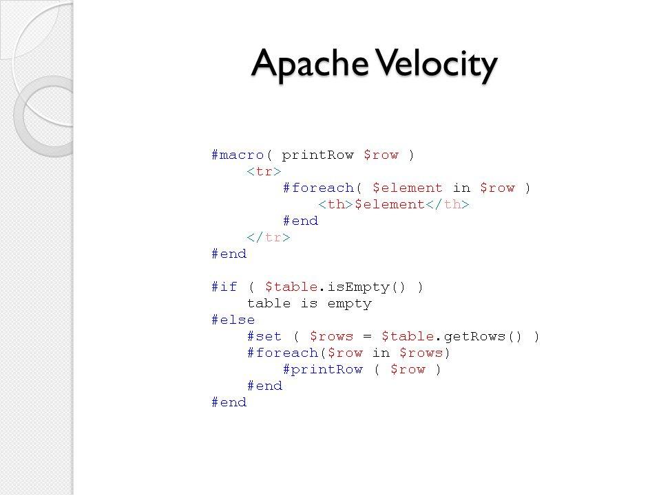 Apache Velocity