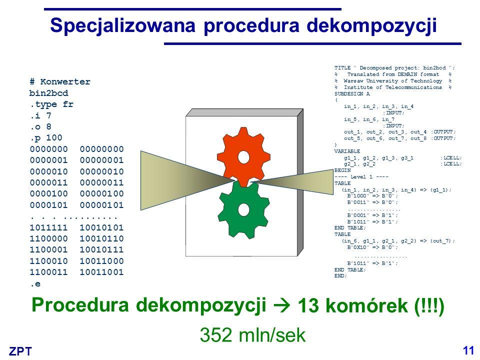 Specjalizowana procedura dekompozycji