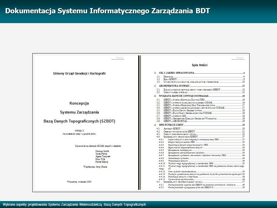 Dokumentacja Systemu Informatycznego Zarządzania BDT