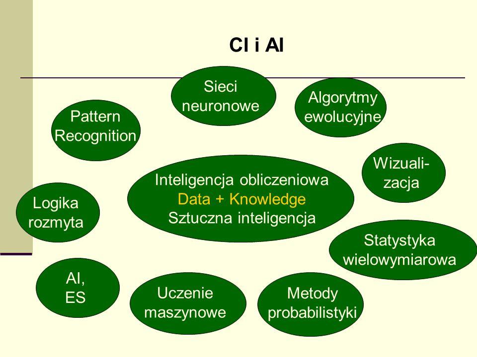 CI i AI Sieci neuronowe Algorytmy ewolucyjne Pattern Recognition