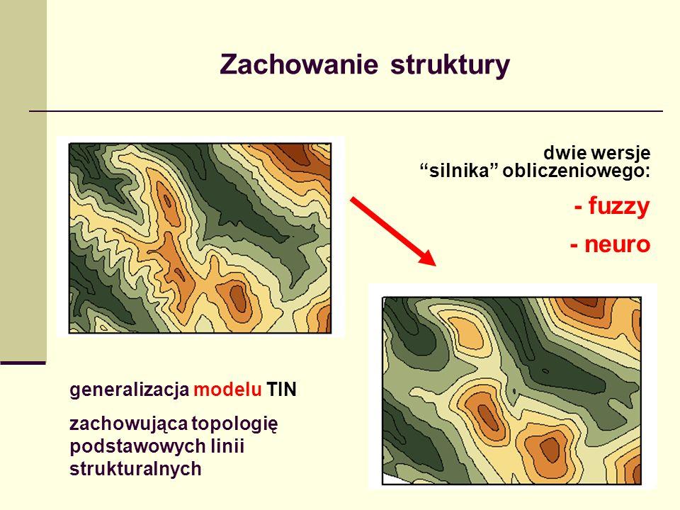 Zachowanie struktury - fuzzy - neuro