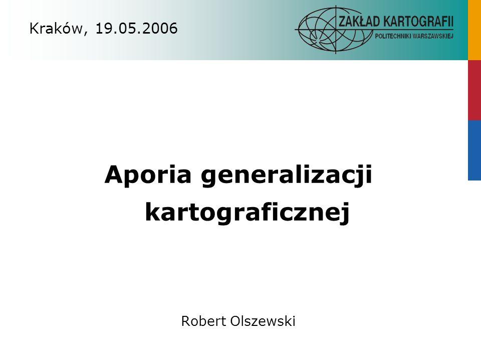 Aporia generalizacji kartograficznej
