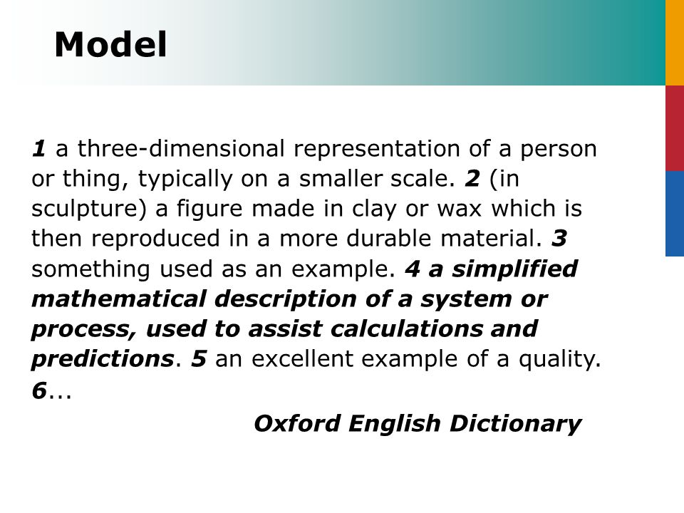 Model Oxford English Dictionary