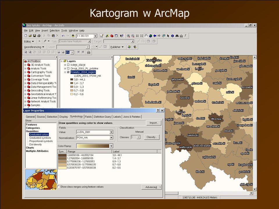 Kartogram w ArcMap