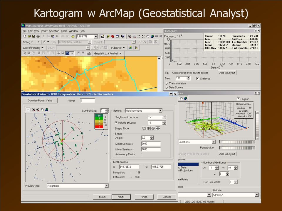 Kartogram w ArcMap (Geostatistical Analyst)