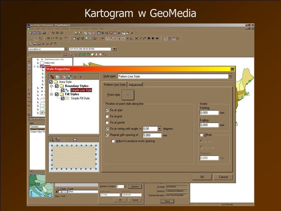 Kartogram w GeoMedia