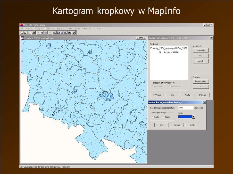 Kartogram kropkowy w MapInfo