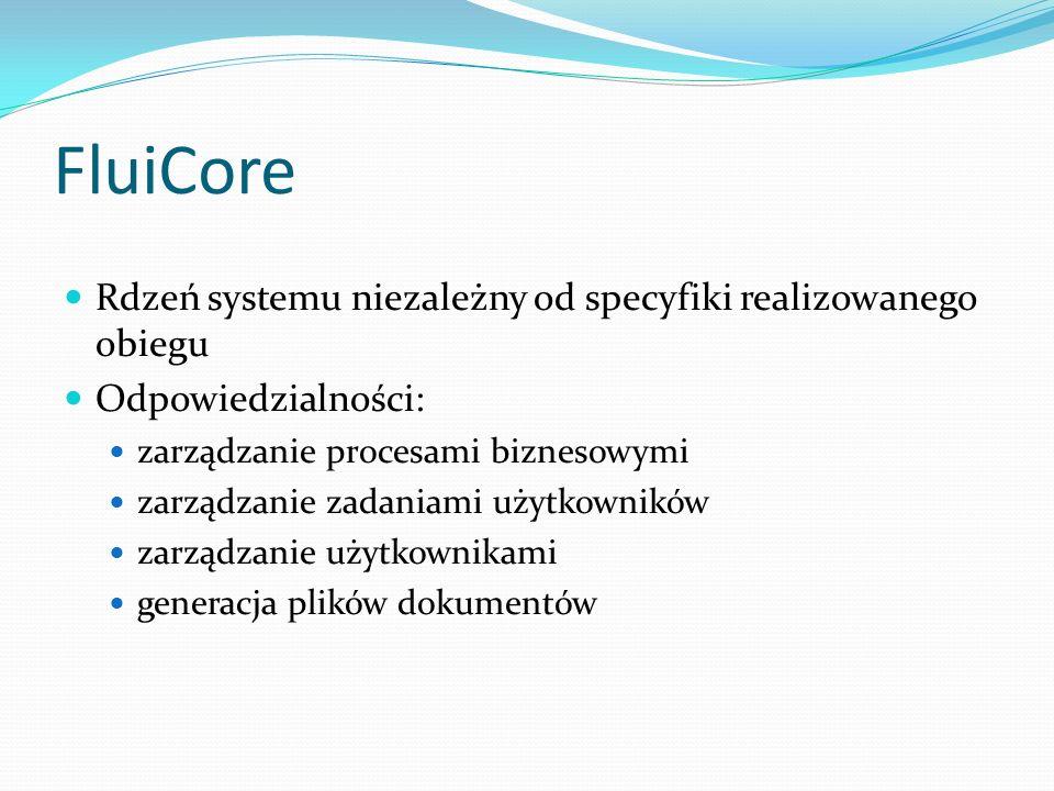 FluiCore Rdzeń systemu niezależny od specyfiki realizowanego obiegu