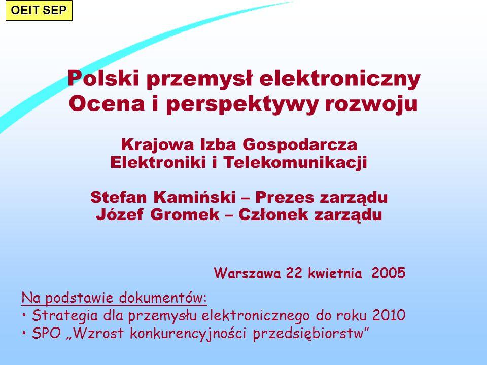 Polski przemysł elektroniczny Ocena i perspektywy rozwoju