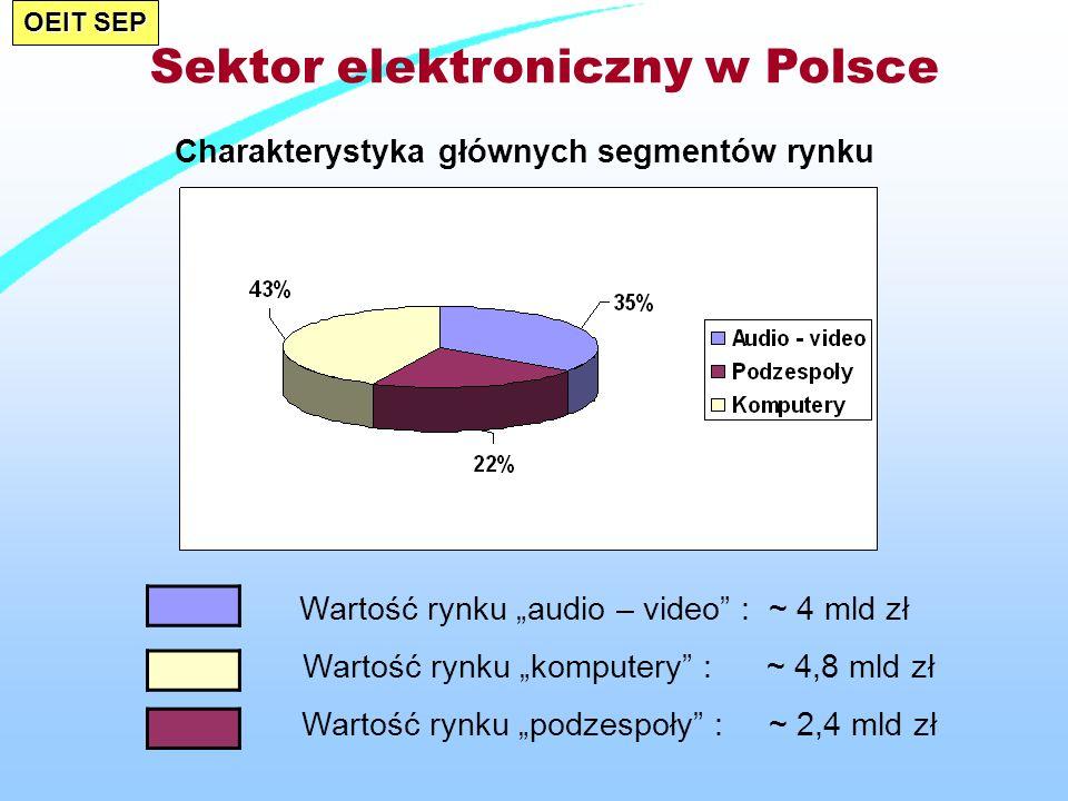 Sektor elektroniczny w Polsce Charakterystyka głównych segmentów rynku