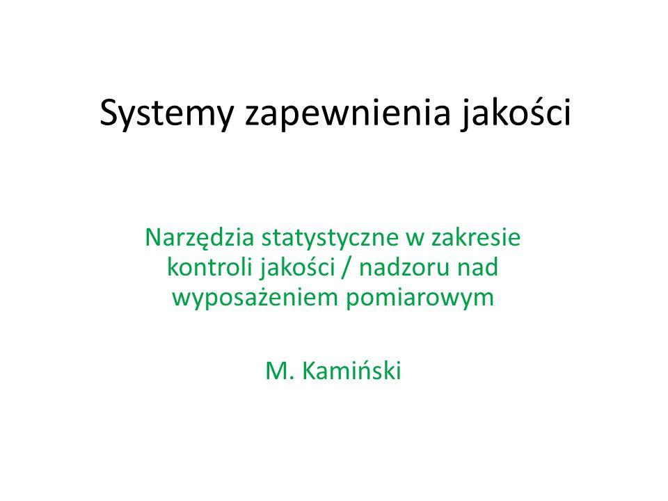 Systemy zapewnienia jakości