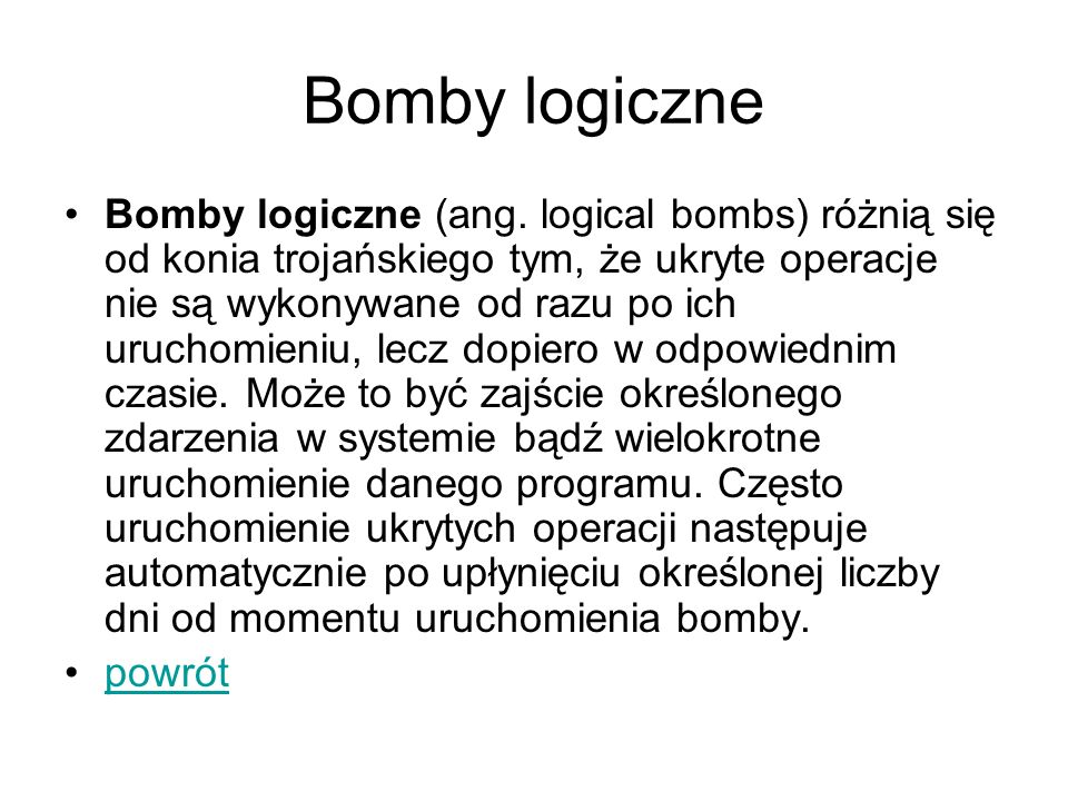 Bomby logiczne