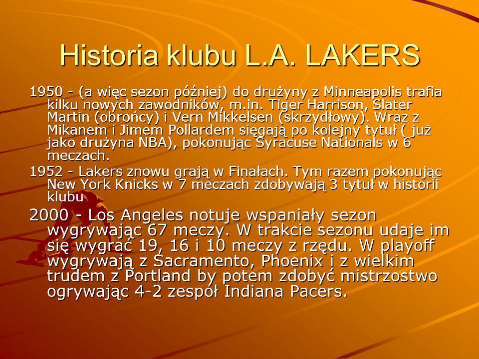 Historia klubu L.A. LAKERS
