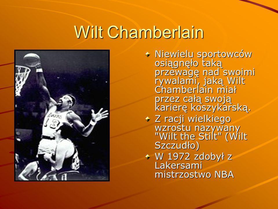 Wilt Chamberlain Niewielu sportowców osiągnęło taką przewagę nad swoimi rywalami, jaką Wilt Chamberlain miał przez całą swoją karierę koszykarską.