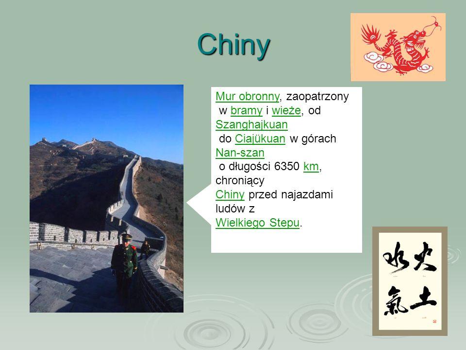 Chiny Mur obronny, zaopatrzony w bramy i wieże, od Szanghajkuan