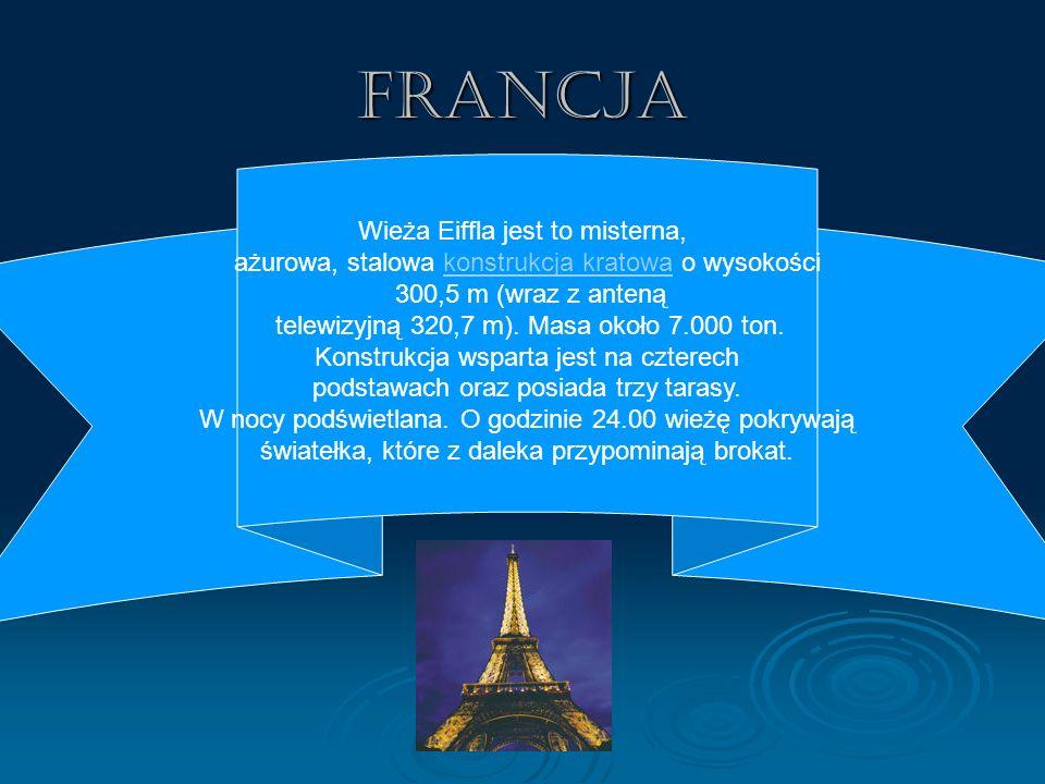 Francja Wieża Eiffla jest to misterna,