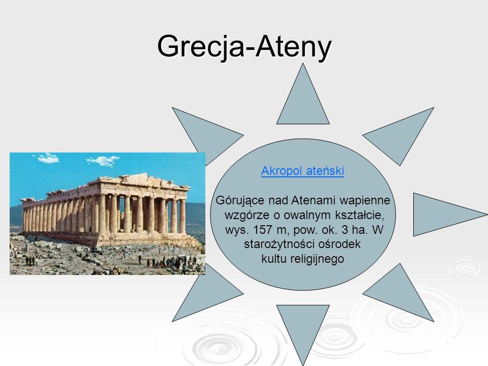 Grecja-Ateny Akropol ateński Górujące nad Atenami wapienne