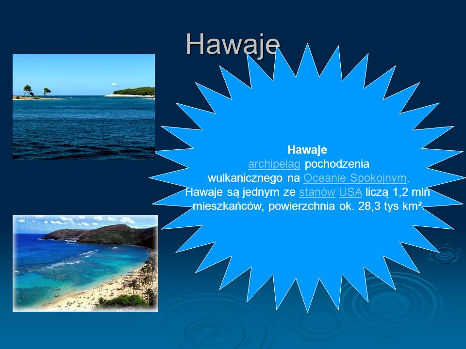 Hawaje Hawaje archipelag pochodzenia