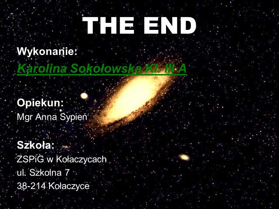 THE END Karolina Sokołowska Kl. III A Wykonanie: Opiekun: Szkoła: