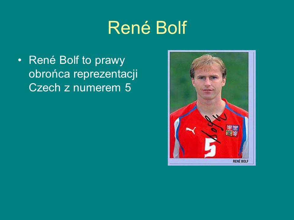 René Bolf René Bolf to prawy obrońca reprezentacji Czech z numerem 5