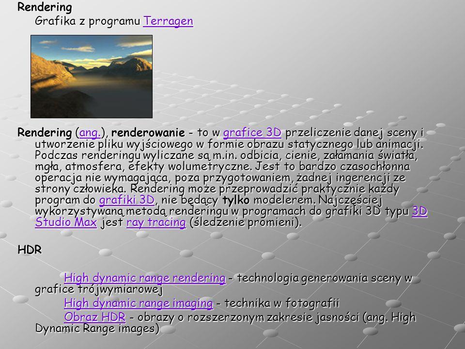 Rendering Grafika z programu Terragen.