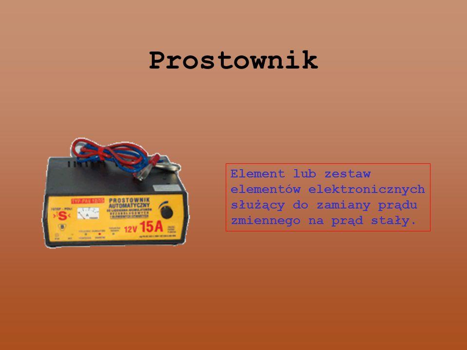 Prostownik Element lub zestaw elementów elektronicznych