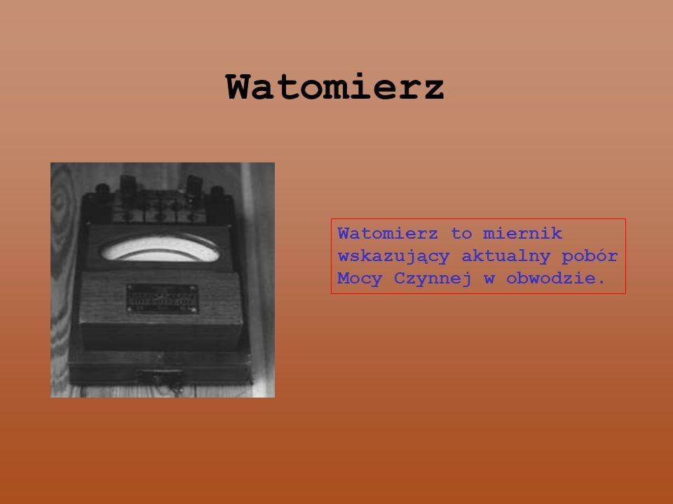 Watomierz Watomierz to miernik wskazujący aktualny pobór