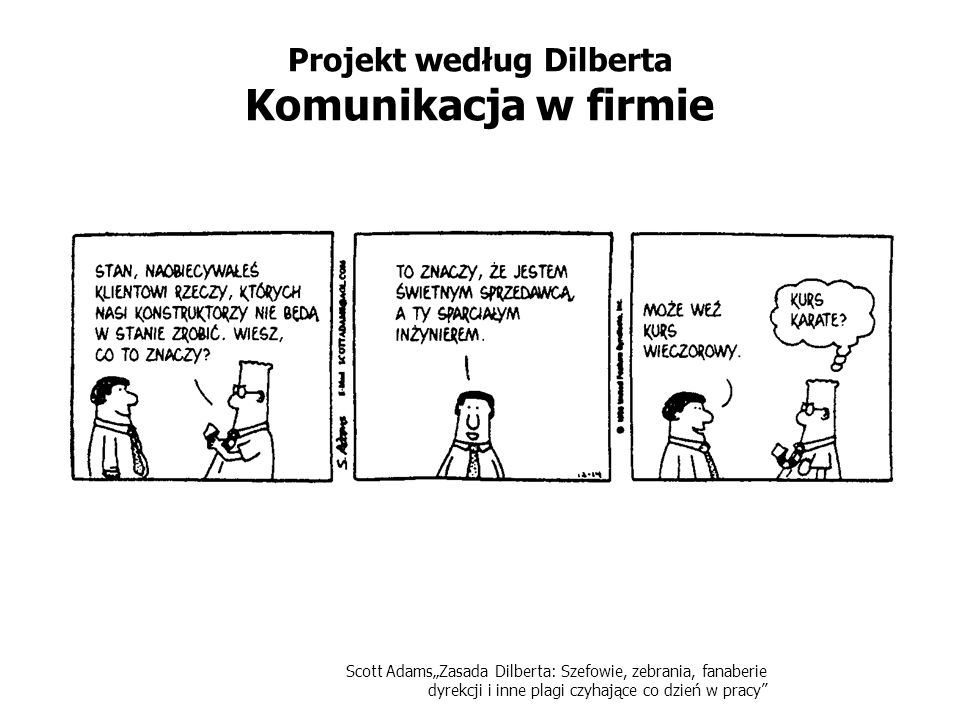 Projekt według Dilberta Komunikacja w firmie