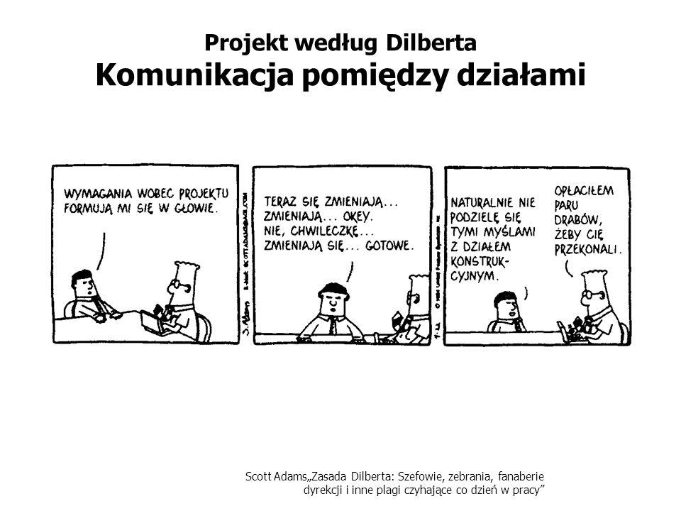 Projekt według Dilberta Komunikacja pomiędzy działami