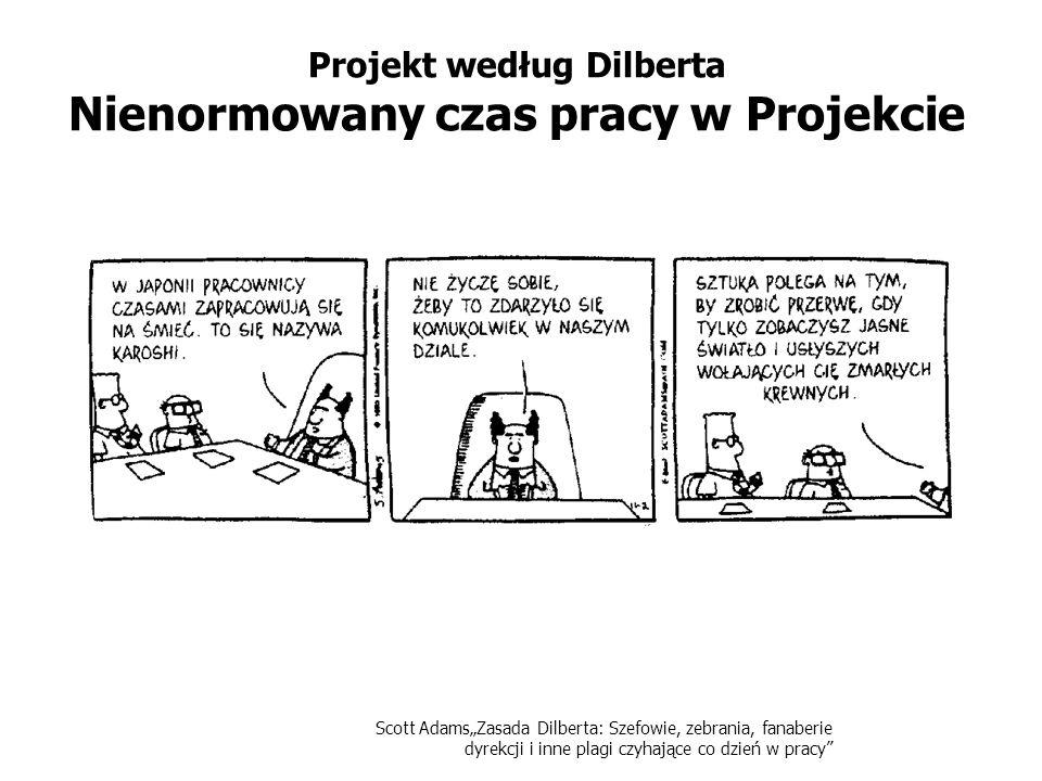 Projekt według Dilberta Nienormowany czas pracy w Projekcie