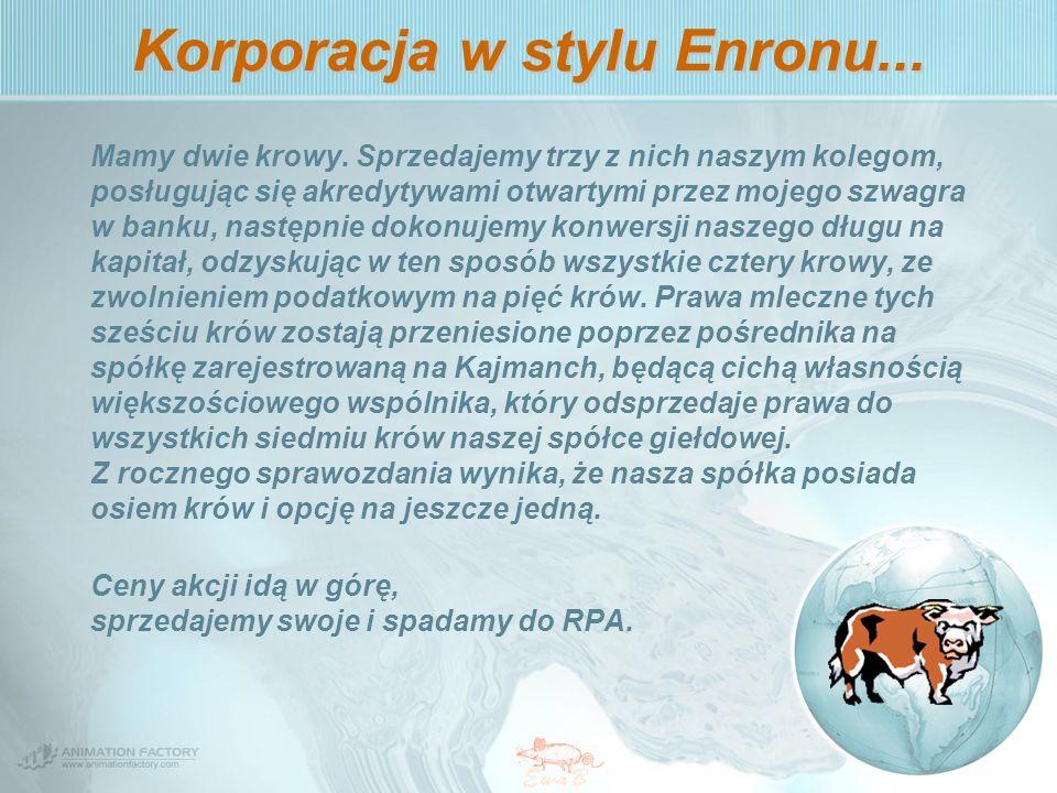 Korporacja w stylu Enronu...