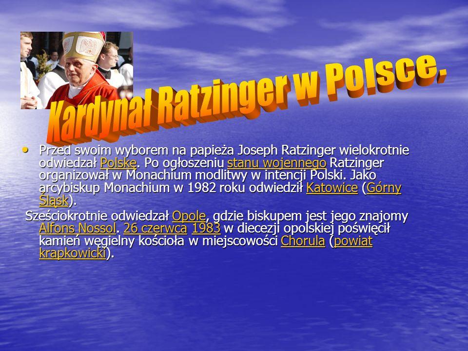 Kardynał Ratzinger w Polsce.