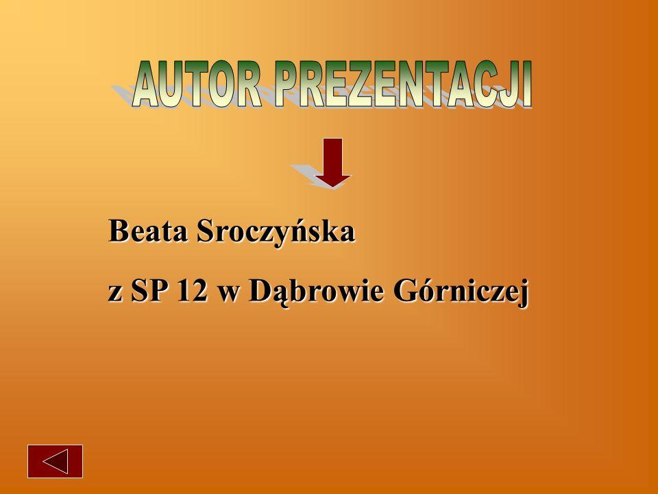 AUTOR PREZENTACJI Beata Sroczyńska z SP 12 w Dąbrowie Górniczej