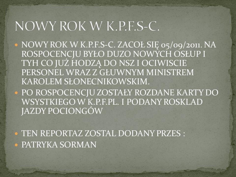 NOWY ROK W K.P.F.S-C.