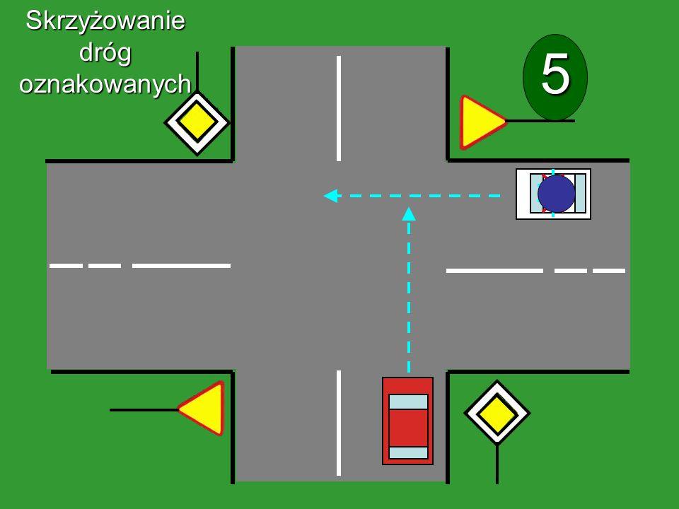Skrzyżowanie dróg oznakowanych