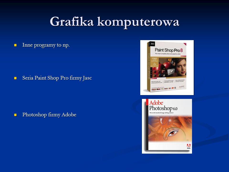 Grafika komputerowa Inne programy to np.