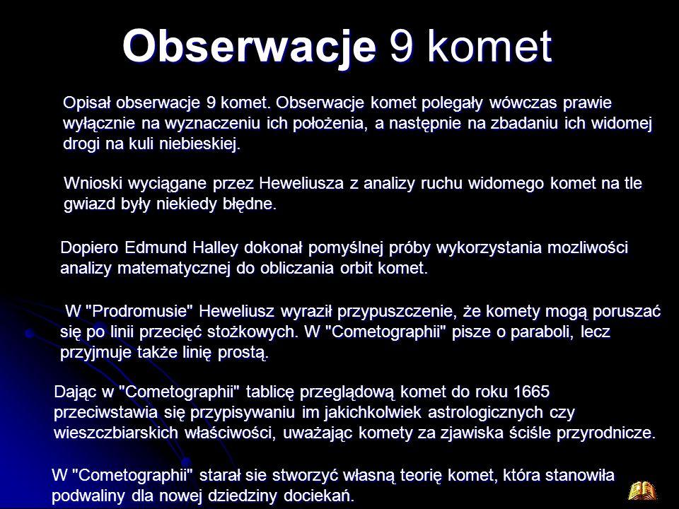 Obserwacje 9 komet