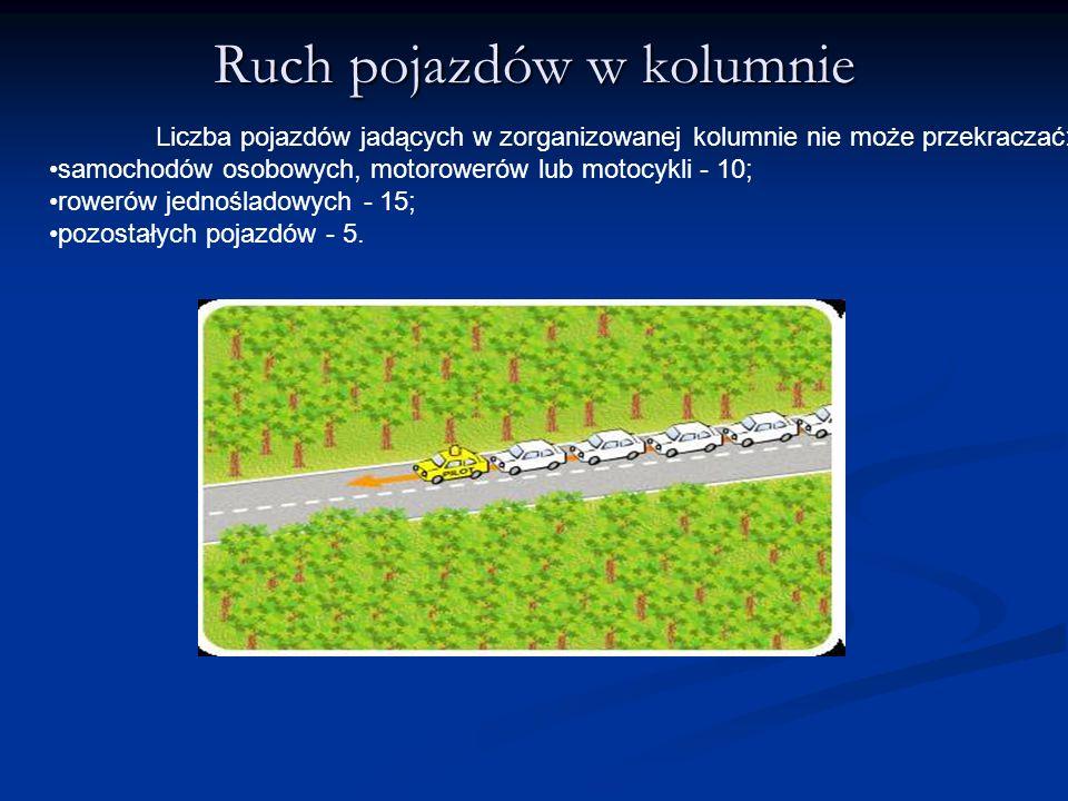 Ruch pojazdów w kolumnie