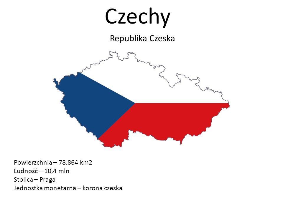 Czechy Republika Czeska Powierzchnia – 78.864 km2 Ludność – 10,4 mln